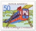 Stamp: 75 Jahre Schwebebahn in Wuppertal