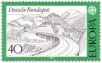 Stamp: Landschaft mit Autobahnbrücke in der Rhön