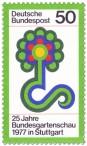 Stamp: Bundesgartenschau 1977, Blumen-Logo