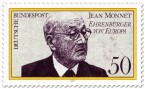 Stamp: Jean Monnet - Ehrenbürger Europas