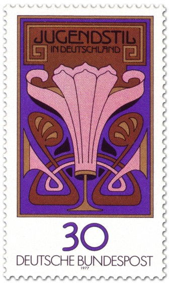 Stamp: Jugendstil In Deutschland (Blumenornament)