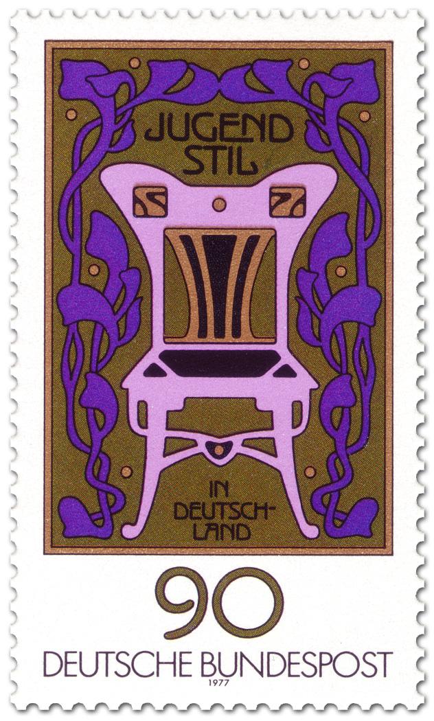 Jugendstil Ornamente Stuhl German Stamp 1977