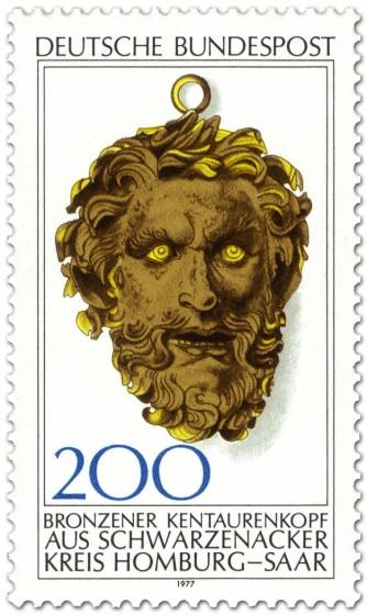 Stamp: Kentaur-Kopf aus Bronze (Schwarzenacker)