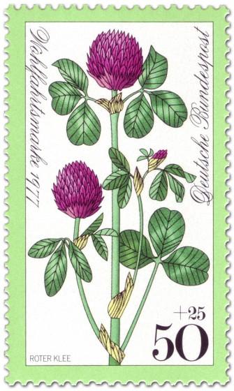 Stamp: Roter Klee Wiesenblume