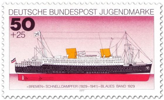 Stamp: Schnelldampfer Bremen (Blaues Band)