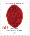 Stamp: Siegel der Gutenberg-Universität Mainz