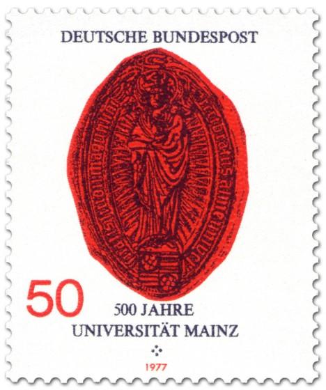 Stamp: Siegel der Gutenberg-Universität Mainz