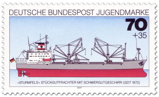 Stamp: Stückgutfrachter Sturmfels Schwergewichtsgeschirr