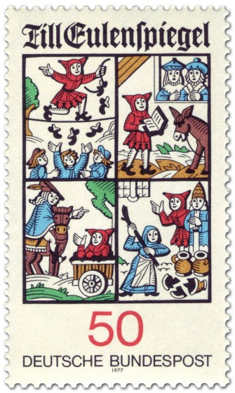 Stamp: Till Eulenspiegel Illustrationen