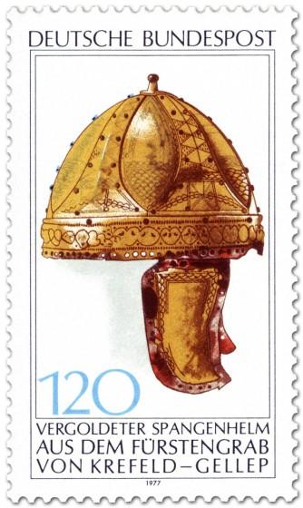 Stamp: Vergoldeter Spangen-Helm (Krefeld-Gellep)