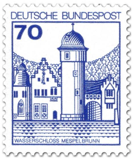 Stamp: Wasserschloss Mespelbrunn