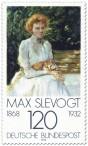 Stamp: Dame mit Katze von Max Slevogt