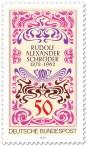 Stamp: Jugendstil Rudolf Alexander Schröder