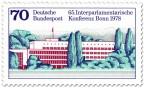 Stamp: Interparlamentarische Konferenz, Bundeshaus Bonn