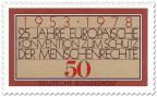 Stamp: Europäische Konvention zum Schutz der Menschenrechte