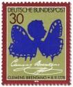 Stamp: Clemens Bretano als Schmetterling (Scherenschnitt)