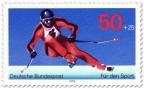 Stamp: Skifahrer Abfahrtslauf (Sporthilfe)
