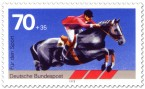 Stamp: Springreiten, Pferdesport (Sporthilfe)