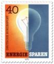 Stamp: Glühbirne an aus - Energie sparen