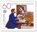 Stamp: Historischer Postschalter um 1854