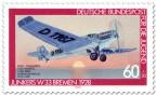 Stamp: Junkers Flugzeug
