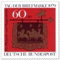 Stamp: Posthausschild aus Altheim an der Saar