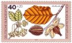 Stamp: Rotbuche Blatt und Frucht