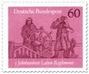 Stamp: Steuermann am Ruder mit Lotse