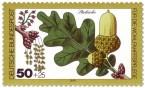 Stamp: Stieleiche Blatt und Eichel