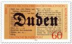 Stamp: 100 Jahre Rechtschreiblexikon von Konrad Duden