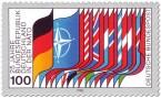 Stamp: Nato-Flaggen (25 jahre BRD in der Nato)