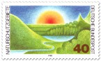 Stamp: Naturschutzgebiete (Landschaft und Sonne)
