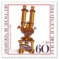 Stamp: Binokularmikroskop um 1860