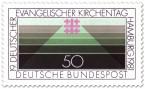 Stamp: Linien und Jerusalemkreuz (ev. Kirchentag)