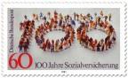 Stamp: Menschen - 100 Jahre Sozialversicherung