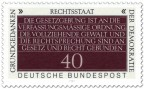 Stamp: Rechtsstaat (Grundgedanken der Demokratie)