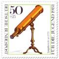 Stamp: Spiegelfernrohr um 1770