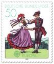 Stamp: Tracht aus dem Schwarzwald (Folklore-Tanz)