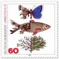 Stamp: Umweltschutz (zerstörter Schmetterling, Fisch, Baum)