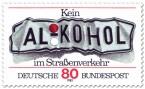 Stamp: Verbeultes Nummernschild - Alkohol am Steuer