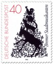 Stamp: Die Bremer Stadtmusikanten als Scherenschnitt