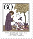 Stamp: Franz von Assisi (Mönch) - Vogelpredigt
