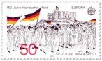 Stamp: Menschen mit Fahnen - Hambacher Fest