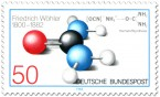 Stamp: Harnstoff Molekül (Friedrich Wöhler)