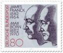 Stamp: James Franck und Max Born (Physiker)