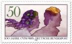 Stamp: Junges Paar (Aquarell) CVJM
