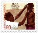 Stamp: Lepra in Afrika - Kind beim Arzt