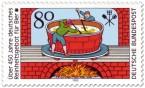 Stamp: Bier Brauen im Kessel (Reinheitsgebot )