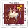 Stamp: Tag der Briefmarke: Postreiter-Aquarell