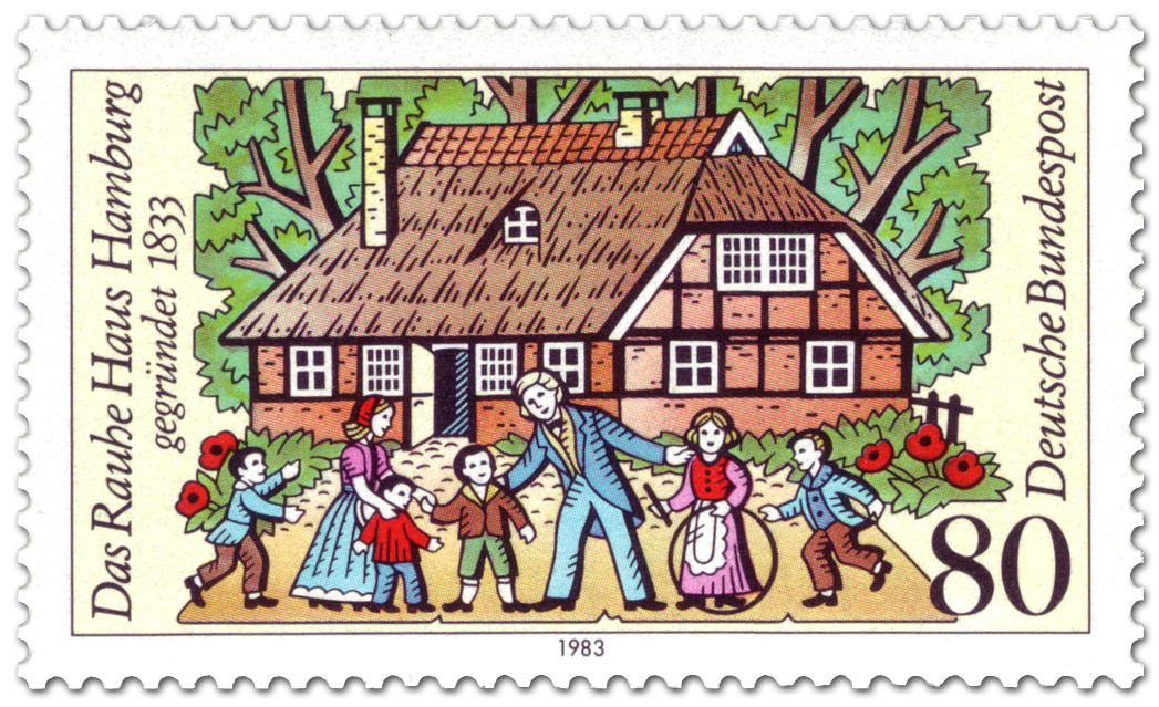 Das Rauhe Haus Hamburg german stamp 1983